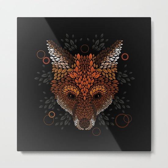 Fox Face Metal Print