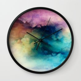 Rainbow Dreams Wall Clock