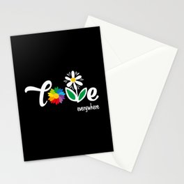 Love Flower floral print woman Gift Stationery Cards