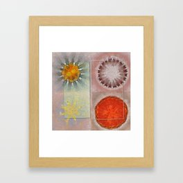 Flagonet Reality Flowers  ID:16165-093245-05721 Framed Art Print