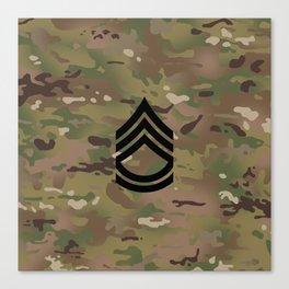 Sergeant First Class (Camo) Canvas Print