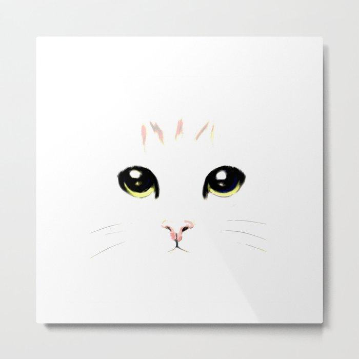 cat white Metal Print
