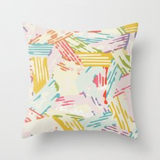 Color Stack Throw Pillow