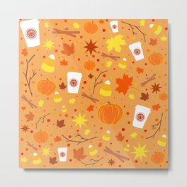 Pumpkin Spice and Candy Corn Metal Print