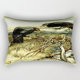 The Two Crows Rectangular Pillow