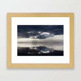 The sun is coming. Framed Art Print