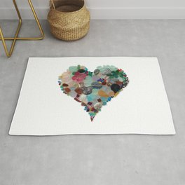 Love - Original Sea Glass Heart Rug