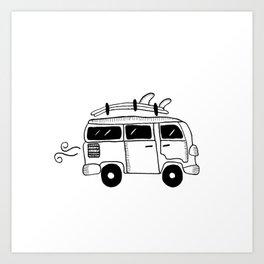 the little van Art Print