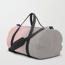 Gradient watercolor pink-gray Duffle Bag
