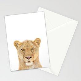 Lioness Art Print by Zouzounio Art Stationery Cards