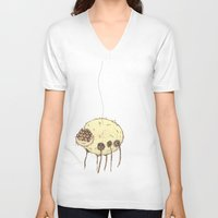 spider V-neck T-shirts featuring Spider by Of Lions And Lambs