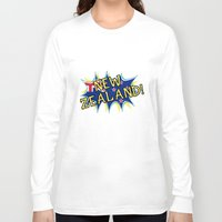 new zealand Long Sleeve T-shirts featuring  New Zealand  by mailboxdisco