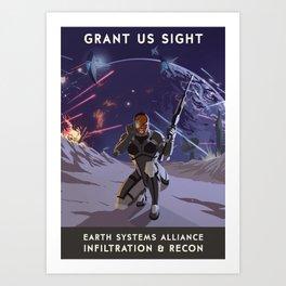 Mass Effect 3- Infiltrator Propaganda Art Print