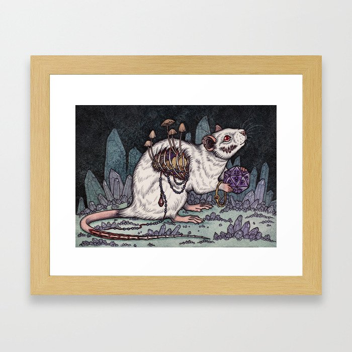 Sorcerer's Familiar Framed Art Print