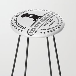 Black Dog Day Official Logo Counter Stool