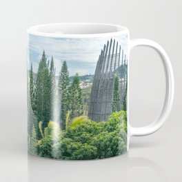 Tjibaou Cultural Centre immersed in tropical vegetation Coffee Mug