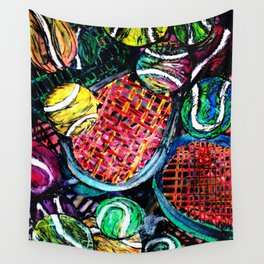 Wild Tennis artwork Wall Tapestry