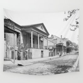 Chartres Street, Vieux Carre, New Orleans, Louisiana 1906 Wall Tapestry