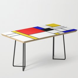 Bauhouse Composition Mondrian Style Coffee Table
