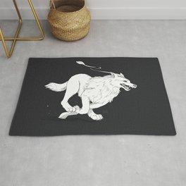 Strange Wolf  Rug