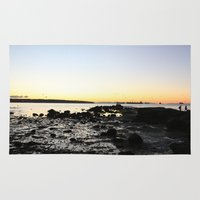 stanley kubrick Area & Throw Rugs featuring Sunset from Stanley Park by RMK Creative