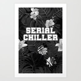 Gray serial chiller Art Print