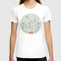 wood T-shirts featuring Winter Wood by littleclyde