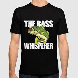 Large Mouth Bass Fishing Bass Whisperer T-shirt