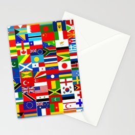 Flag Montage Stationery Cards