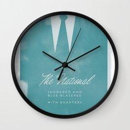 The National - Blue Blazered Wall Clock