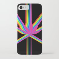 "cannabis iPhone & iPod Cases featuring Rainbow Cannabis by ""LSC"""