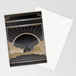 Art deco design V Stationery Cards
