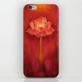 Red Lotus iPhone Skin