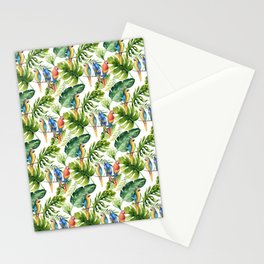 Tropical Parrots Stationery Cards