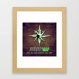 Journey Map Framed Art Print