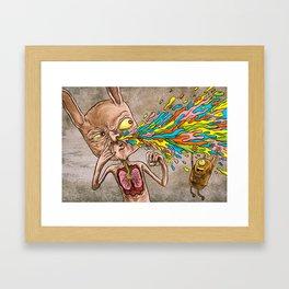 Rainbow Rain! Framed Art Print