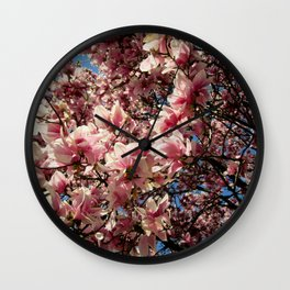 Partially Pink Wall Clock