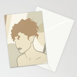 Abstract female body Stationery Cards