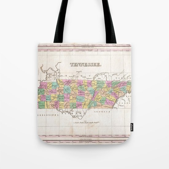 Vintage Map of Tennessee (1827) by bravuramedia