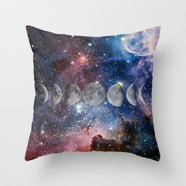 Cosmic Celestial Cycle Throw Pillow