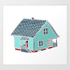 Little Porch House Art Print