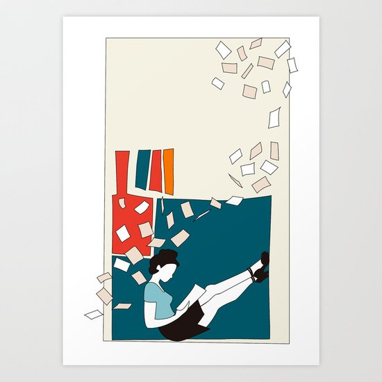 Papers Art Print