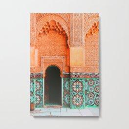marrakech doorway Metal Print
