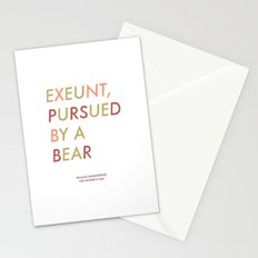 Shakespeare - The Winter's Tale - Exeunt Exit Pursued by a Bear Stationery Cards