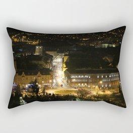 Nightscape in Brasov Rectangular Pillow