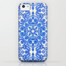 Cobalt Blue & China White Folk Art Pattern Slim Case iPhone 5c