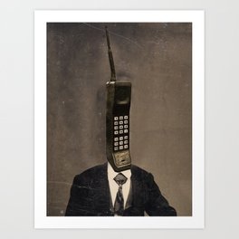 Faces of the Past: Cellular Art Print