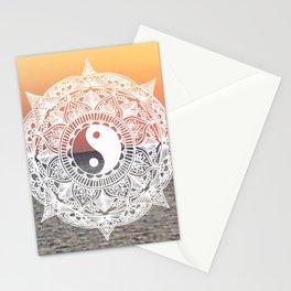 Sunset Yin Yang Mandala Stationery Cards