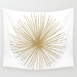 Gold Sputnik Orb Wall Tapestry