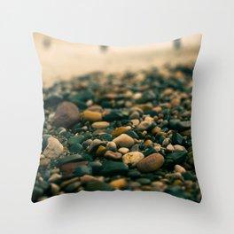 Stones on the beach Throw Pillow